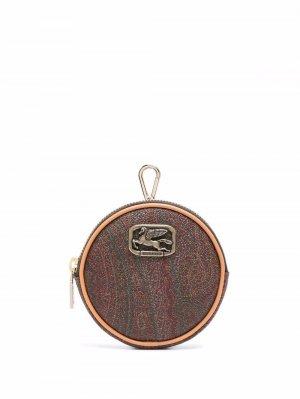 Кошелек для монет с принтом пейсли ETRO. Цвет: синий