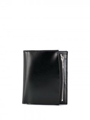 Бумажник с контрастной строчкой Maison Margiela. Цвет: черный