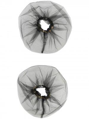 Набор из двух резинок для волос Atu Body Couture. Цвет: черный