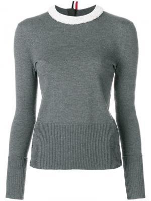 Пуловер с отделкой жемчугом Thom Browne