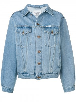 Джинсовая куртка Super Mama Forte Dei Marmi Couture. Цвет: синий