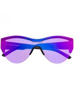 Солнцезащитные очки Ski Balenciaga Eyewear. Цвет: черный