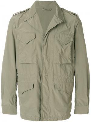 Куртка с карманами-карго Aspesi. Цвет: зеленый