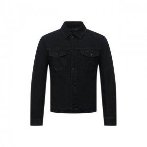 Джинсовая куртка Emporio Armani. Цвет: чёрный