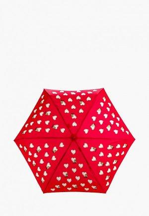 Зонт складной Moschino. Цвет: красный