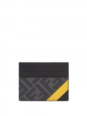 Картхолдер с логотипом Fendi. Цвет: черный