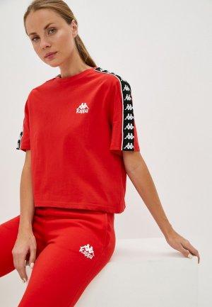Футболка Kappa. Цвет: красный