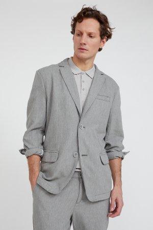 Пиджак мужской Finn-Flare. Цвет: серо-зеленый