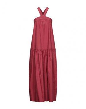 Длинное платье LIVIANA CONTI. Цвет: красный