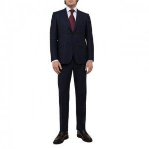 Шерстяной костюм Canali. Цвет: синий