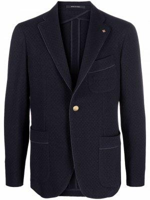 Однобортный пиджак Tagliatore. Цвет: синий