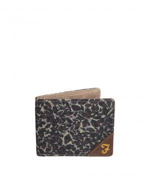 Классический парусиновый бумажник Farah Vintage. Цвет: зеленый