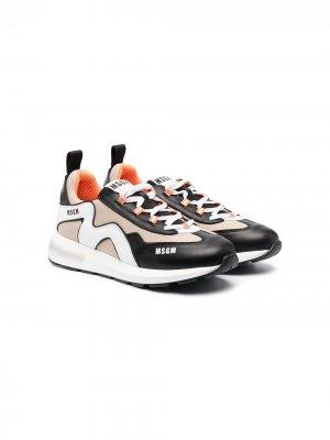 TEEN two-tone low-top sneakers Msgm Kids. Цвет: черный