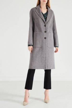 Серое пальто с большими карманами Gerard Darel. Цвет: серый