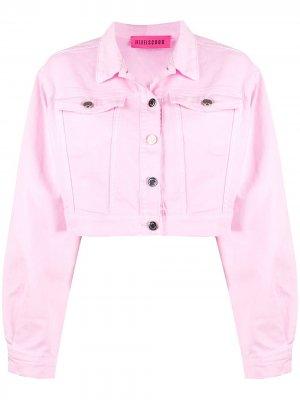 Укороченная джинсовая куртка IRENEISGOOD. Цвет: розовый