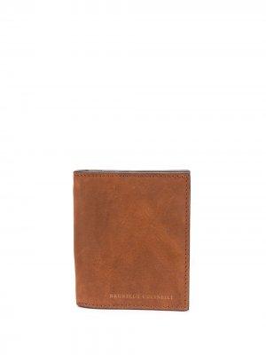 Прямоугольный бумажник Brunello Cucinelli. Цвет: коричневый