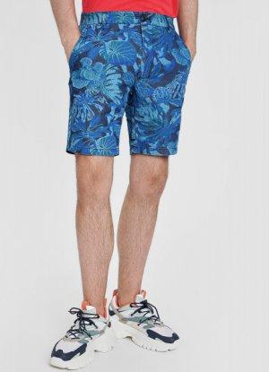 Джинсовые шорты с принтом O`Stin. Цвет: темно-синий