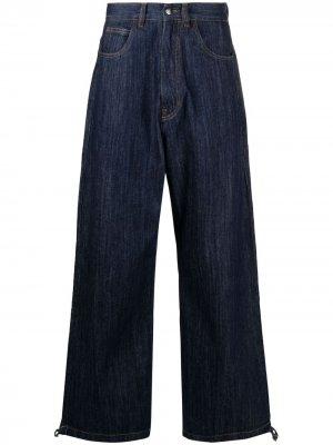 Широкие джинсы с завышенной талией Société Anonyme. Цвет: синий