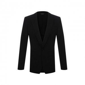 Шерстяной пиджак Dolce & Gabbana. Цвет: чёрный