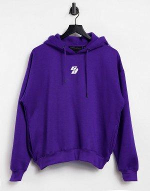 Худи фиолетового цвета в стиле oversized -Фиолетовый цвет Criminal Damage