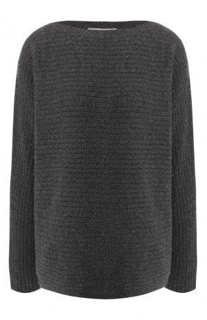 Пуловер из смеси шерсти и хлопка Vince. Цвет: серый
