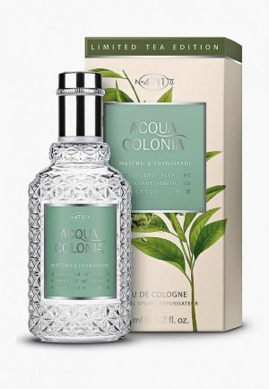 Одеколон 4711 Acqua Colonia Pleasant-Matcha & Frangipani, 50 мл. Цвет: прозрачный
