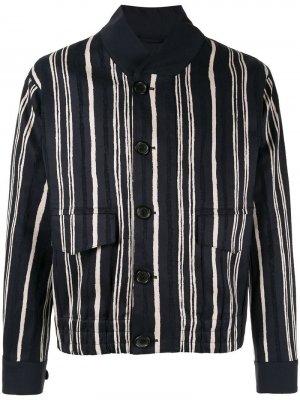 Куртка в полоску Cerruti 1881. Цвет: синий