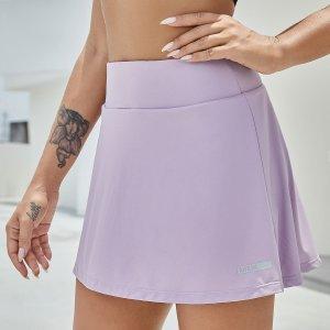 Юбка-шорты спортивный SHEIN. Цвет: розовые