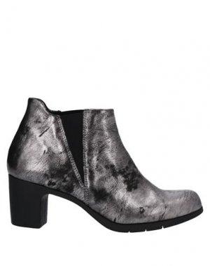 Полусапоги и высокие ботинки KHRIO'. Цвет: свинцово-серый