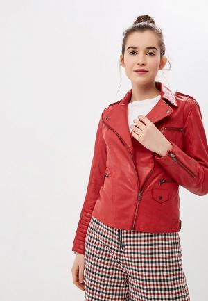 Куртка кожаная Naf. Цвет: красный