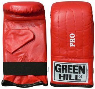 Перчатки снарядные Pro, размер 6 oz Green Hill. Цвет: красный