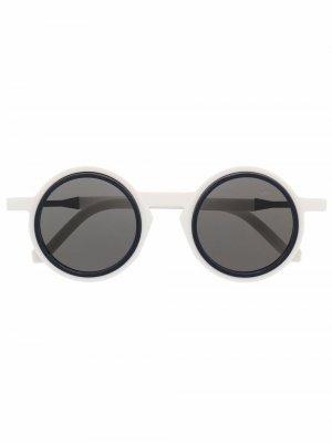Солнцезащитные очки WL0042 в круглой оправе VAVA Eyewear. Цвет: белый