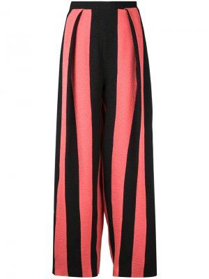 Укороченные брюки в полоску Edeline Lee. Цвет: черный