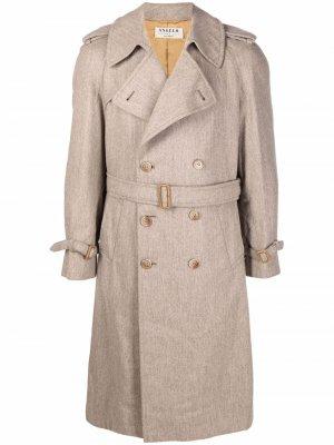1990s double-breasted belted trench coat A.N.G.E.L.O. Vintage Cult. Цвет: нейтральные цвета