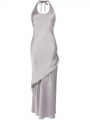 Halterneck gown Gloria Coelho. Цвет: золотистый