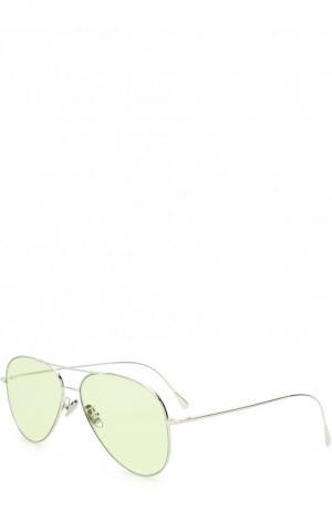 Солнцезащитные очки Cutler and Gross. Цвет: зелёный