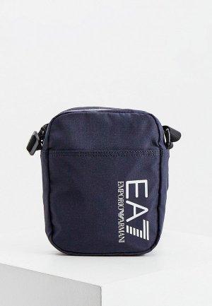 Сумка EA7. Цвет: синий