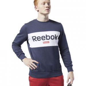 Джемпер Training Essentials Linear Logo Reebok. Цвет: heritage navy