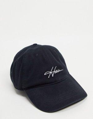 Черная кепка с логотипом-надписью -Черный цвет Hollister