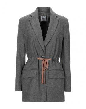 Легкое пальто ANNARITA N TWENTY 4H. Цвет: серый