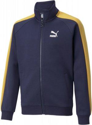 Олимпийка для мальчиков Iconic, размер 140-146 Puma. Цвет: синий