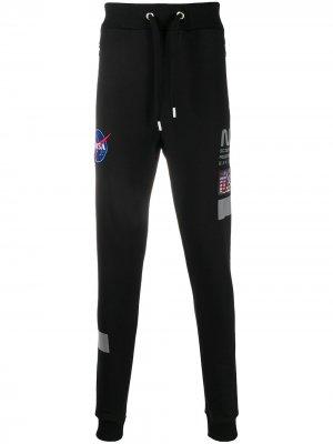 Зауженные спортивные брюки NASA Alpha Industries. Цвет: черный
