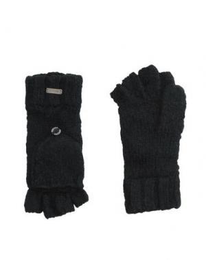 Перчатки BREKKA. Цвет: черный