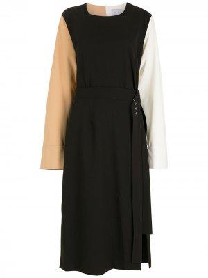 Платье миди с длинными рукавами Gloria Coelho. Цвет: черный