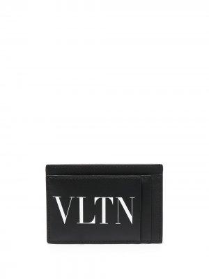 Компактный картхолдер с логотипом VLTN Valentino Garavani. Цвет: черный