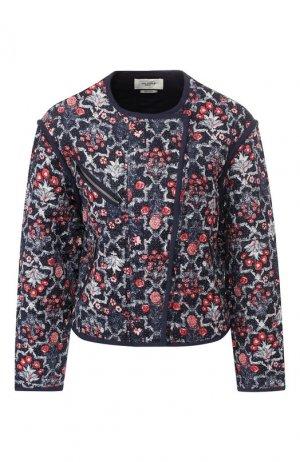 Льняная куртка Isabel Marant Etoile. Цвет: разноцветный