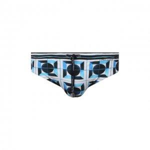 Плавки Dolce & Gabbana. Цвет: синий