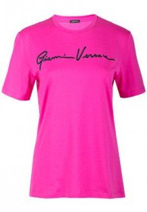 Футболка VERSACE. Цвет: розовый