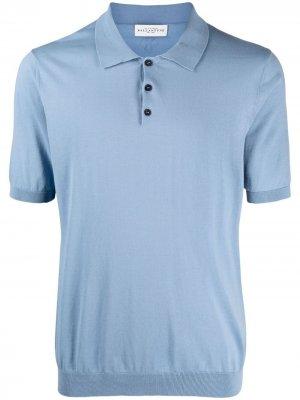 Рубашка поло в рубчик Ballantyne. Цвет: синий