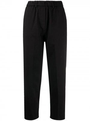 Укороченные брюки прямого кроя Alysi. Цвет: черный